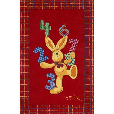 Boeing Carpet GmbH Felix The Rabbit Hand-Woven Red Area Rug