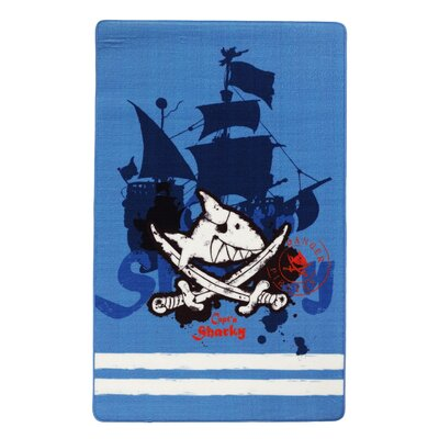 Boeing Carpet GmbH Capt'n Sharky Blue Area Rug