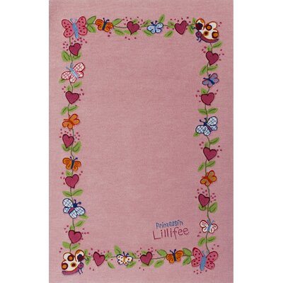 Boeing Carpet GmbH Princess Lillifee Hand-Woven Pink Area Rug