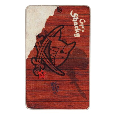 Boeing Carpet GmbH Capt'n Sharky Red Area Rug