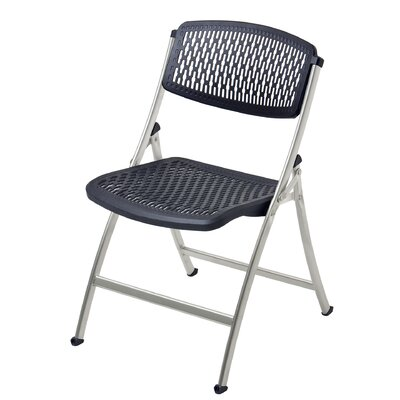 Flex One Folding Chair Seat Finish / Finish: Black / Silver