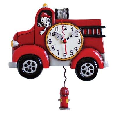 Allen Design Fire Truck Clock