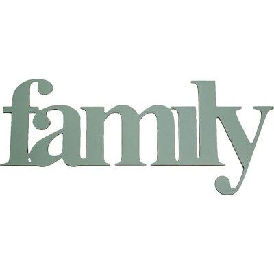 """Dassie Digi Cut """"Family"""" Typography Plaque"""