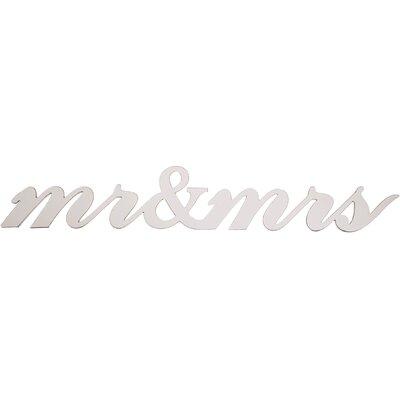 """Dassie Digi Cut """"mr&mrs"""" Typography Plaque"""