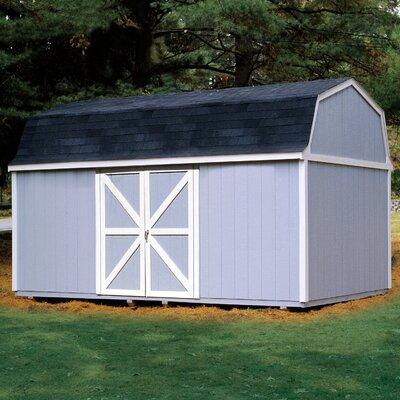 Berkley 10 ft. 10 in. W x 18 ft. 2 in. D Wood Storage Shed Floor: With Floor