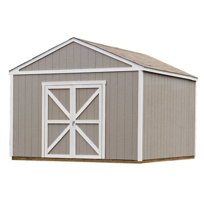 Premier Series 12 ft. 6 in. W x 12 ft. 3 in. D Wooden Storage Shed Floor: With Floor