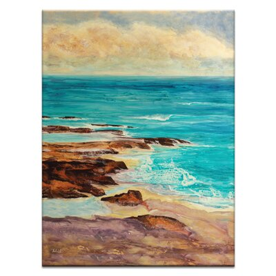 Artist Lane Ocean Inlet by Jennifer Webb Art Print Wrapped on Canvas