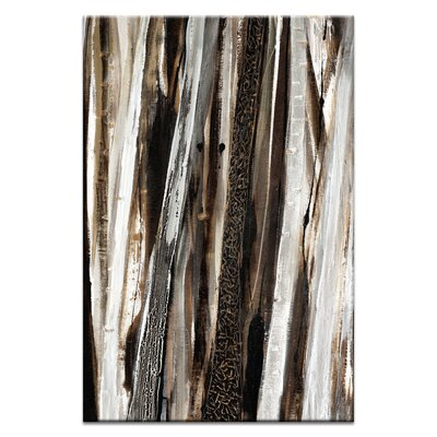 Artist Lane Treeline in Umber #2 by Katherine Boland Art Print Wrapped on Canvas