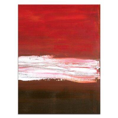 Artist Lane White Line Divide 3 by Teresa Ventura Art Print on Canvas
