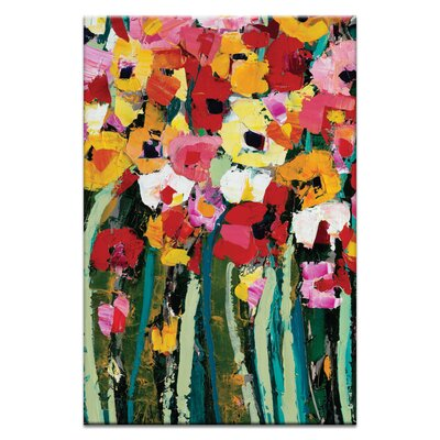 Artist Lane Blooms 1 by Anna Blatman Art Print Wrapped on Canvas