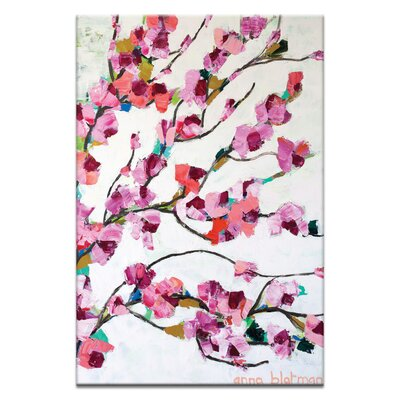 Artist Lane Pink Magnolia by Anna Blatman Art Print on Canvas