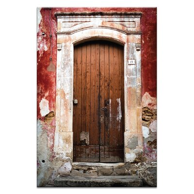 Artist Lane Doors of Italy - Rosso by Joe Vittorio Photographic Print Wrapped on Canvas