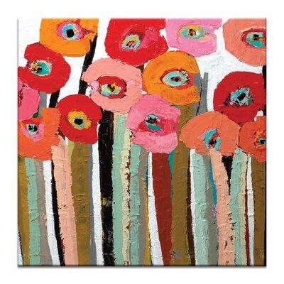 Artist Lane Stemmed Poppies Close Up 1 by Anna Blatman Art Print on Canvas