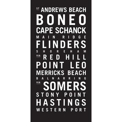 Artist Lane 'Western Port' Typography on Wrapped Canvas