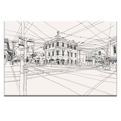 Artist Lane Swan Street by Steve Leadbeater Graphic Art Wrapped on Canvas