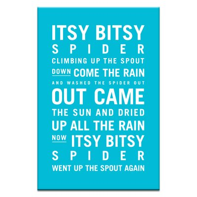 Artist Lane Itsy Bitsy Spider by Nursery Canvas Art in Blue
