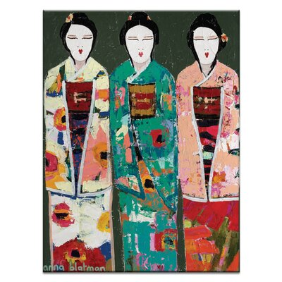 Artist Lane Spring Geisha by Anna Blatman Art Print Wrapped on Canvas