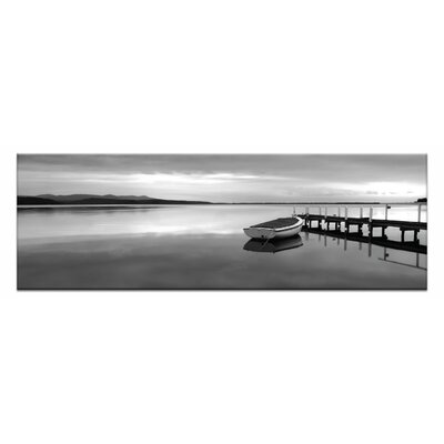 Artist Lane Tranquil Waters by Andrew Brown Photographic Print on Canvas in Black