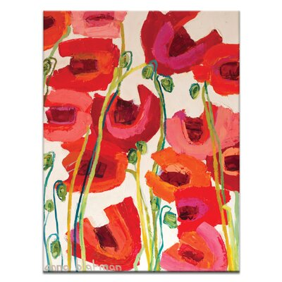 Artist Lane Crazy Poppies by Anna Blatman Art Print Wrapped on Canvas