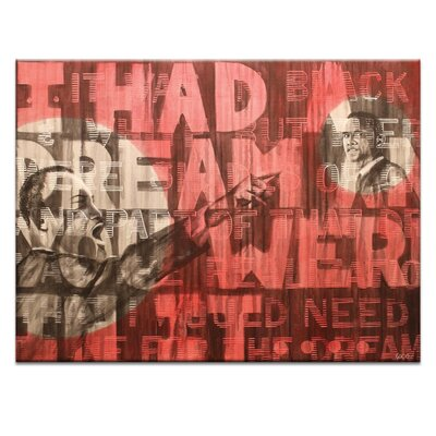 Artist Lane Dr King and Barac by Coco Graphic Art on Canvas in Red