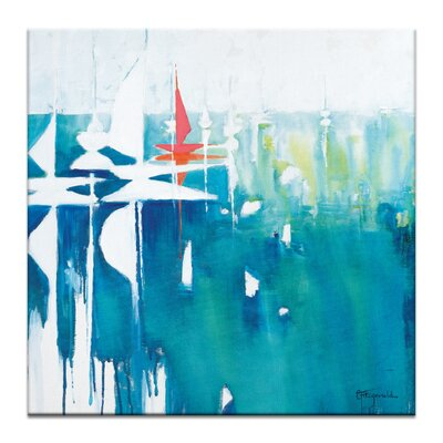 Artist Lane Beacon by Catherine Fitzgerald Art Print Wrapped on Canvas
