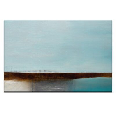 Artist Lane Turquoise Bay by Katherine Boland Art Print Wrapped on Canvas
