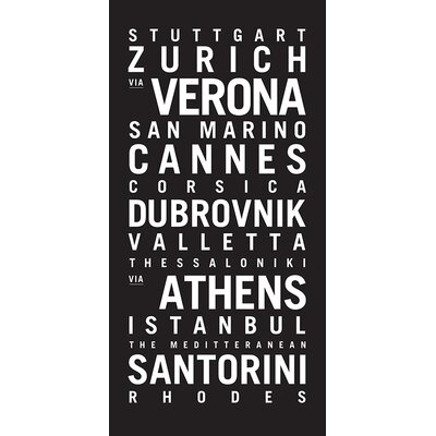Artist Lane 'Europe 3' by Tram Scrolls Typography on Wrapped Canvas