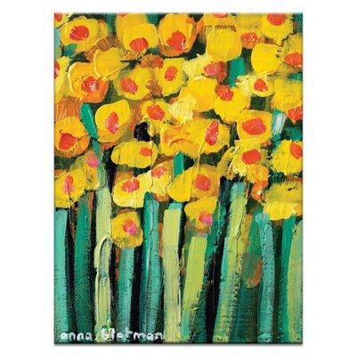 Artist Lane Yellow Jonquils by Anna Blatman Art Print Wrapped on Canvas