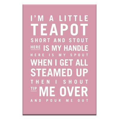 Artist Lane I'm a Little Teapot by Nursery Canvas Art in Pink