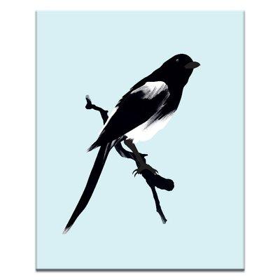 Artist Lane Blue Bird by Ayarti Art Print Wrapped on Canvas in Black