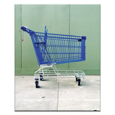 Artist Lane Blue Trolley by Steve Leadbeater Photographic Print Wrapped on Canvas in Blue/Green