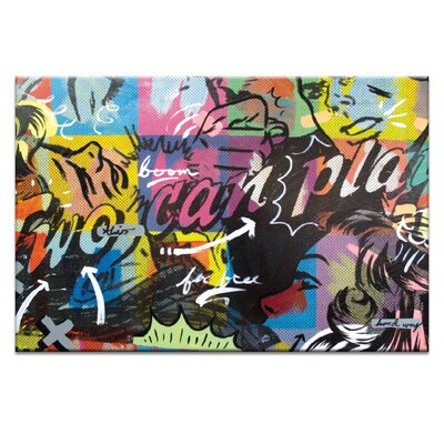 Artist Lane Two Can Play by Dan Monteavaro Graphic Art Wrapped on Canvas