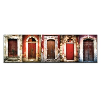 Artist Lane Doors of Italy - Le Porte Rosse by Joe Vittorio Photographic Print Wrapped on Canvas