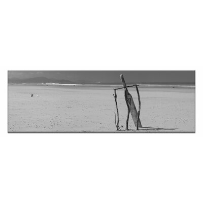 Artist Lane Beach Cricke by Andrew Brown Photographic Print on Canvas in Black