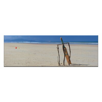 Artist Lane Beach Cricke by Andrew Brown Photographic Print on Canvas in Blue