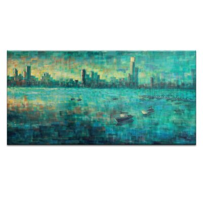 Artist Lane Bay View VIII by Jennifer Webb Art Print Wrapped on Canvas