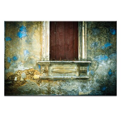 Artist Lane Doors of Italy - Macchie Di Vernice Blu by Joe Vittorio Photographic Print Wrapped on Canvas
