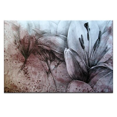 Artist Lane Lilies, Drawing by Olena Kosenko Art Print on Canvas