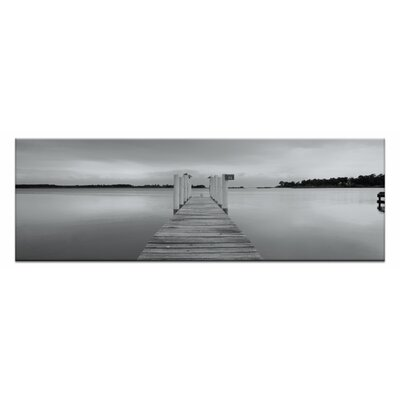 Artist Lane Peaceful Pier by Andrew Brown Photographic Print Wrapped on Canvas in Black/White