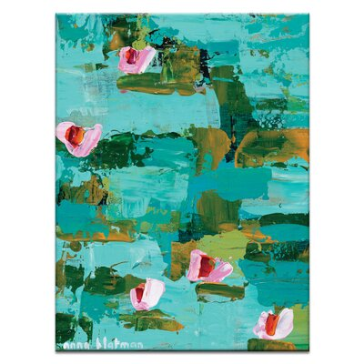 Artist Lane Lillies by Anna Blatman Art Print Wrapped on Canvas in Green