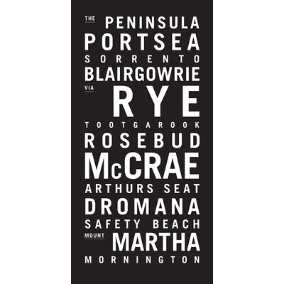 Artist Lane 'Penninsula' by Tram Scrolls Typography Wrapped on Canvas