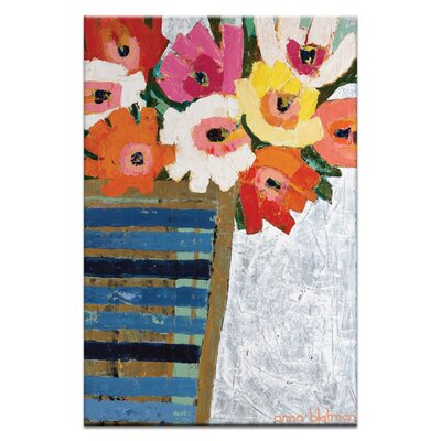 Artist Lane Country Flowers by Anna Blatman Art Print Wrapped on Canvas