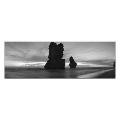 Artist Lane Twilight Apostles by Andrew Brown Photographic Print on Canvas in Black/White
