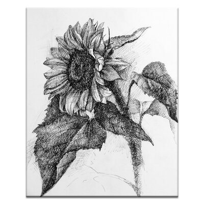 Artist Lane Sunflower by Olena Kosenko Art Print Wrapped on Canvas