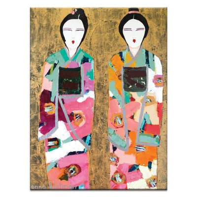 Artist Lane Gold Geisha by Anna Blatman Art Print Wrapped on Canvas