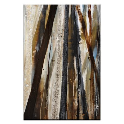 Artist Lane Treeline in Olive #1 by Katherine Boland Art Print Wrapped on Canvas