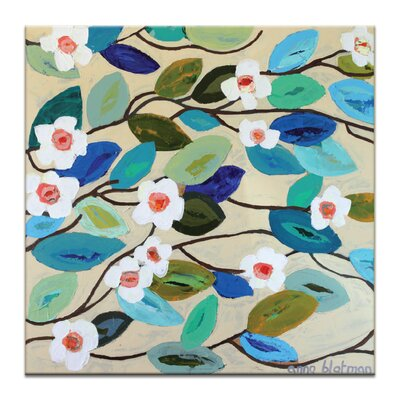 Artist Lane Looking Down on Lillies by Anna Blatman Art Print Wrapped on Canvas