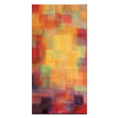 Artist Lane Skyline Tryptich Left by Jennifer Webb Art Print Wrapped on Canvas