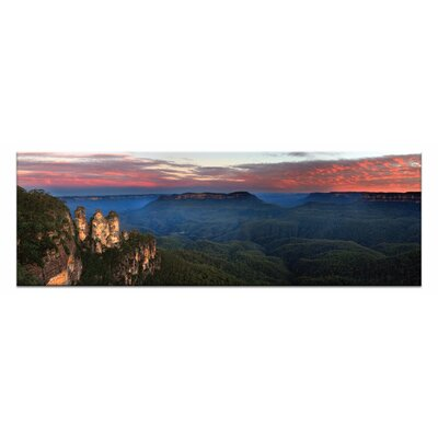 Artist Lane Three Sisters Sunse by Andrew Brown Photographic Print on Canvas in Orange