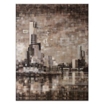 Artist Lane Yarra View II by Jennifer Webb Art Print on Canvas in Brown/Black